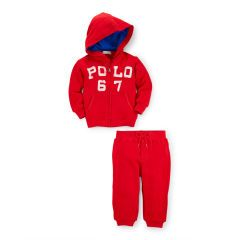 Cotton Terry Hoodie & Pant Set - Baby Boy Outfits - RalphLauren.com