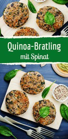 Vegetarischer Quinoa-Bratling mit Spinat