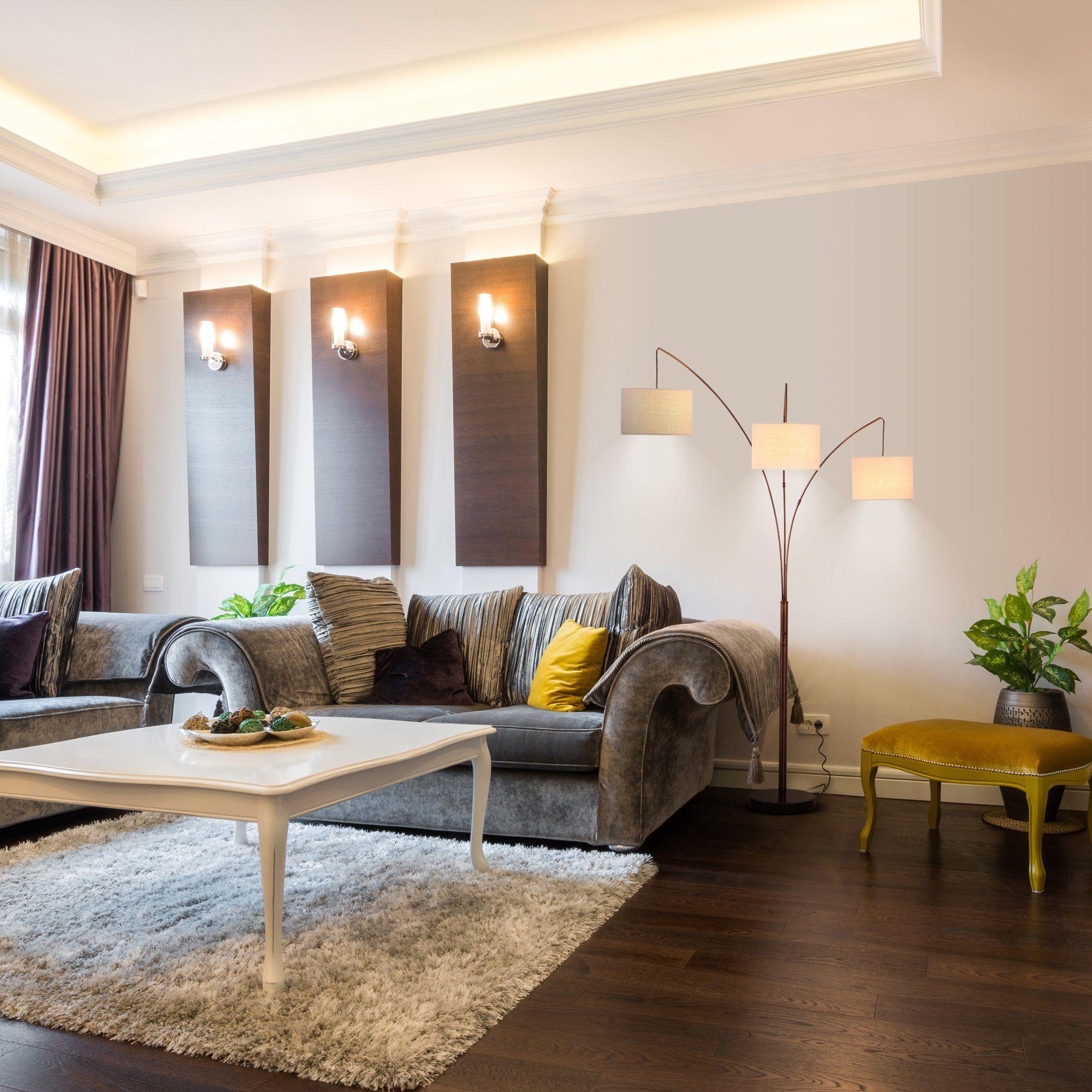 Get The Look Arc Floor Lamp Floor Lamps Living Room Lamps Living Room Living Room Flooring