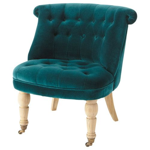 Assises Home Inspiration Blue Velvet Chairs Rocking