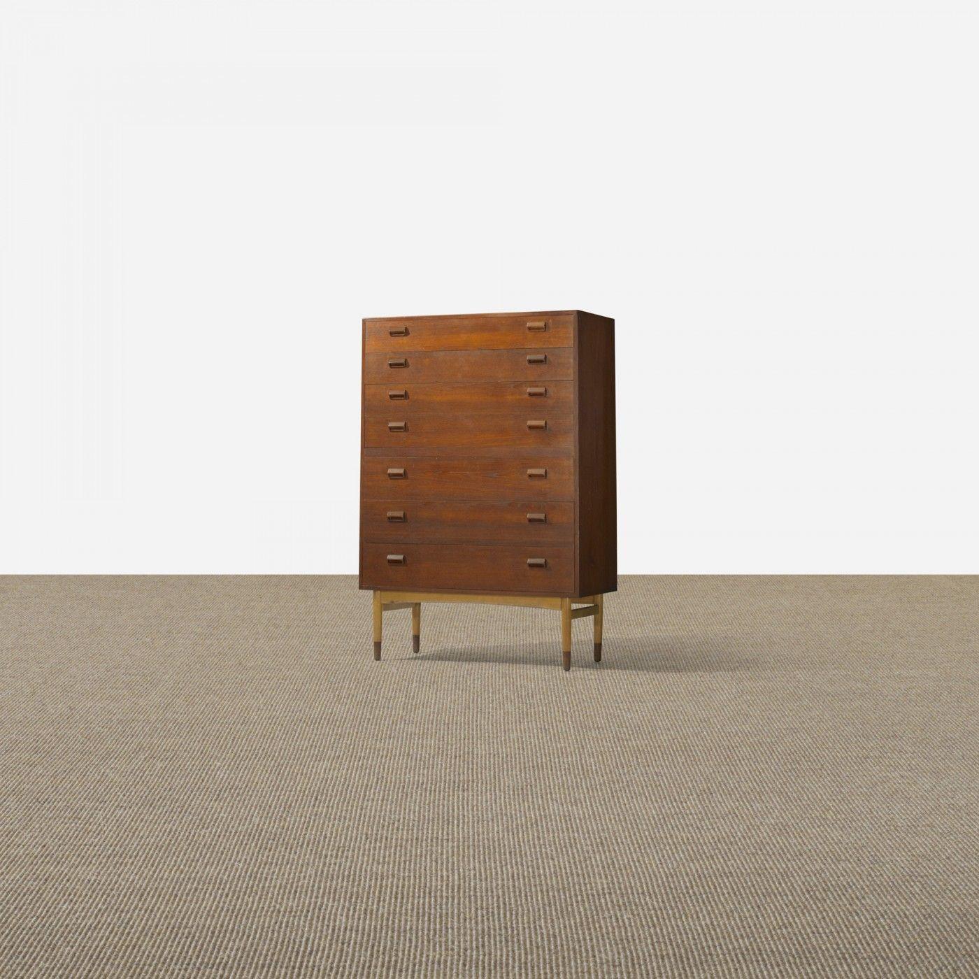 Børge Mogensen, cabinet, Søborg MøbelfabrikDenmark, 1951teak, birch39.25 w x 18.75 d x 57.25 h inches, s5.9