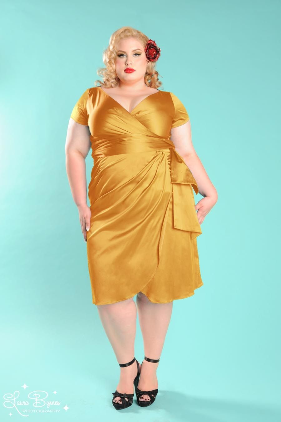 Ava Dress In Burnt Gold Plus Size Up To A Size 4x 108 Very
