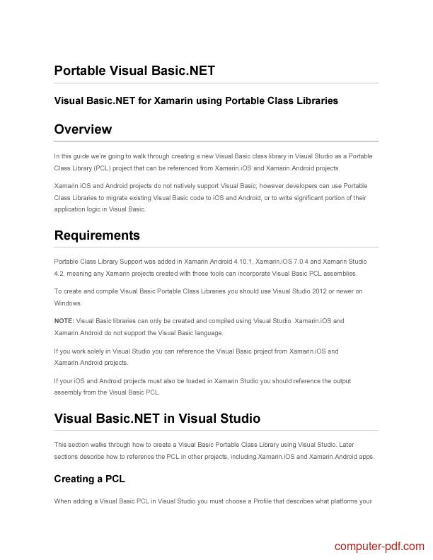 🏷️ Visual basic manual pdf download   Visual Basic