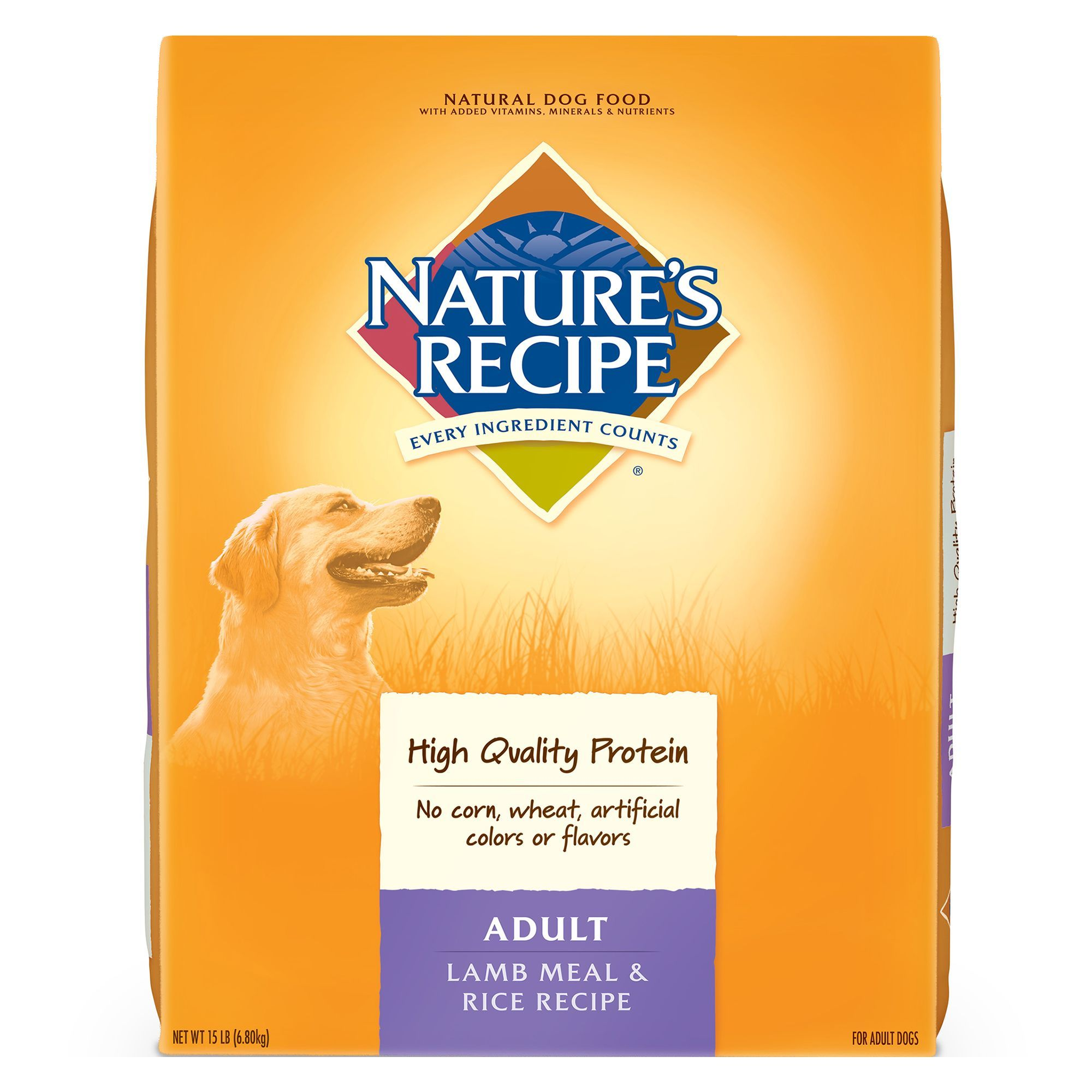 Nature S Recipe Adult Dog Food Natural Lamb Meal And Rice Size