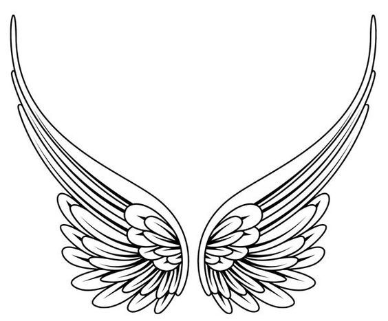 Simple Angel Wings Tattoo Google Search Tatuajes De Alas Tatuajes De Alas De Angel Alas De Angel