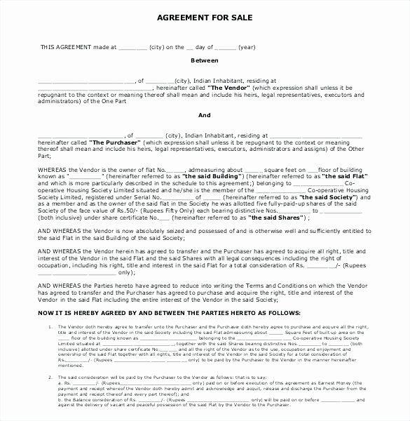 Estate Sale Contract Template Elegant Real Estate Sales Agreement Elegant Sample Purchase 7 Free Word Document Contract Template Words