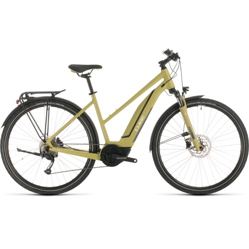 Bild Von Cube Touring Hybrid One 500 Damen E Bike 2020 Green White In 2020 Federgabel E Bike Mtb Reifen