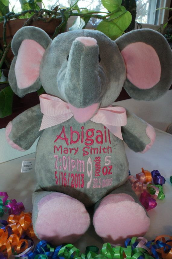 """Personalized Baby Gift, """"Baby Cubbies"""" Unicorn, Birth ..."""