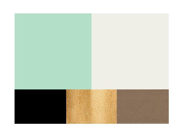 color scheme mint and cream accented by black metallic gold kraft paper brown - Green And Gold Color Scheme