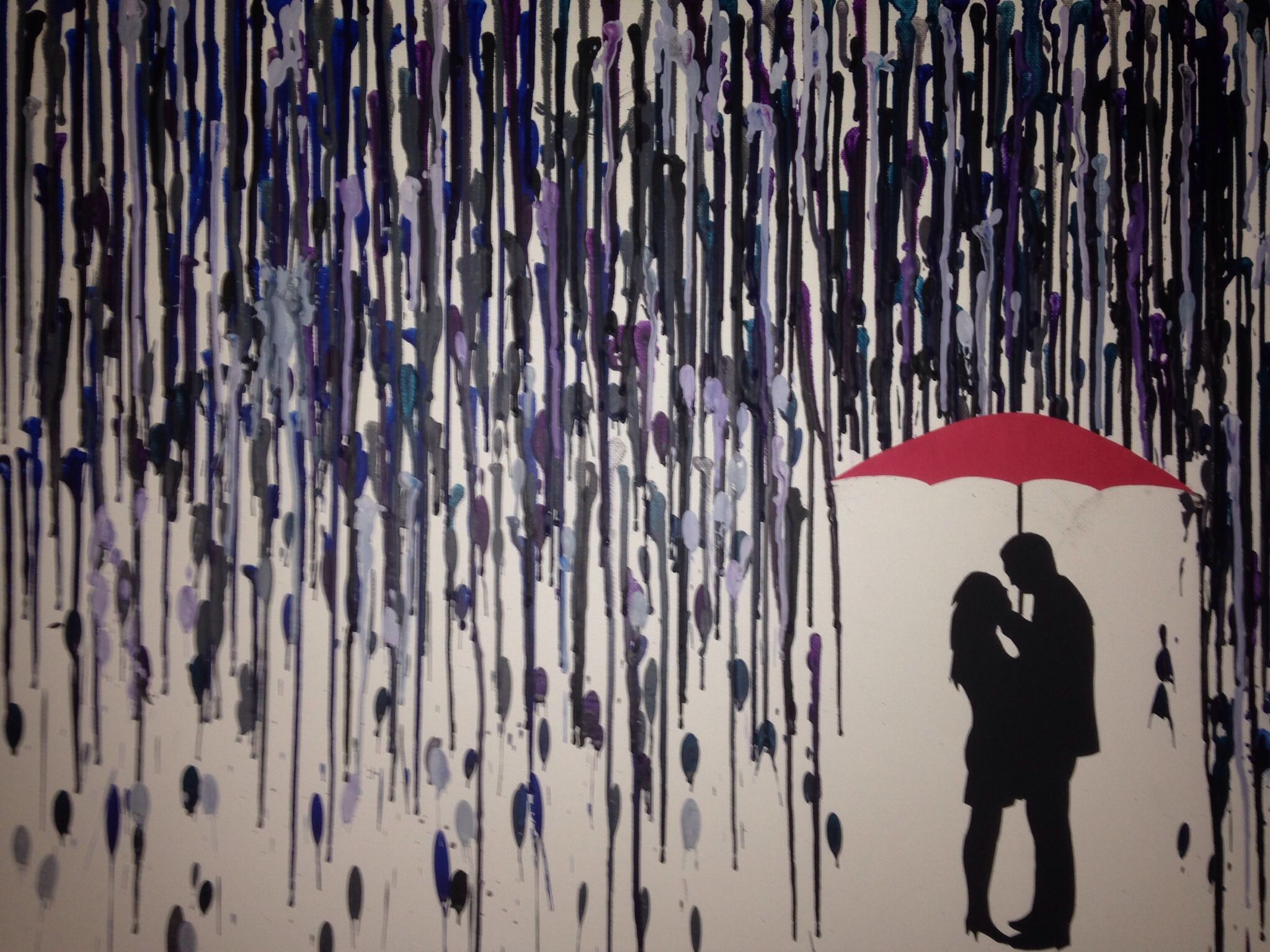 For My Lady (Wax Rain, Melted Crayon Art