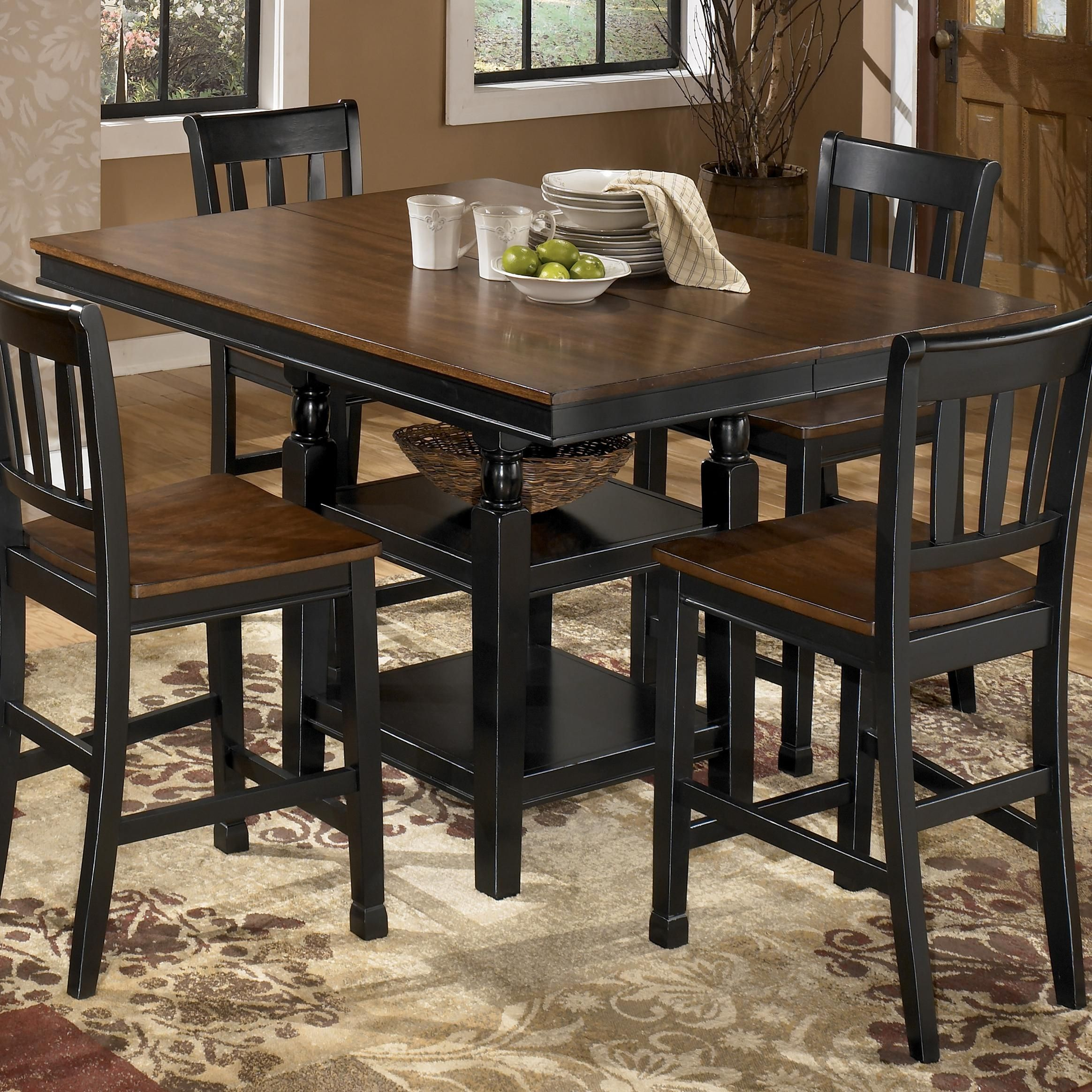 Owingsville Square Dining Room Counter Extension Table With