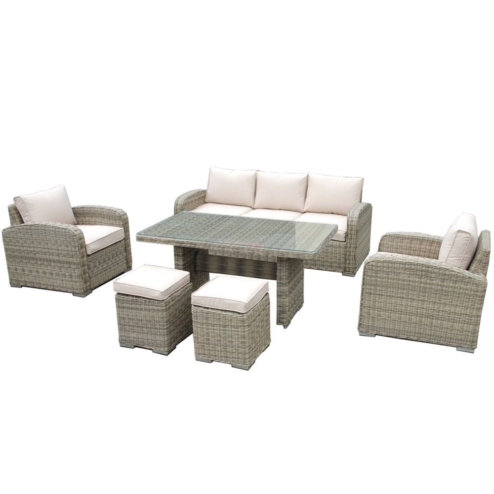 Maze Rattan Winchester 3 Seat Sofa Casual Dining Set