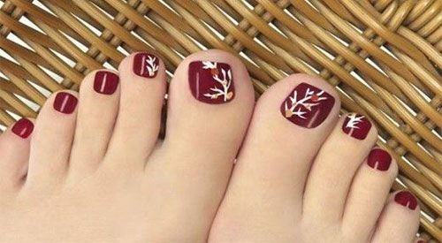 Fall / Autumn Toe Nail Art - Fall / Autumn Toe Nail Art Fall / Autumn Toe Nail Art In 2018