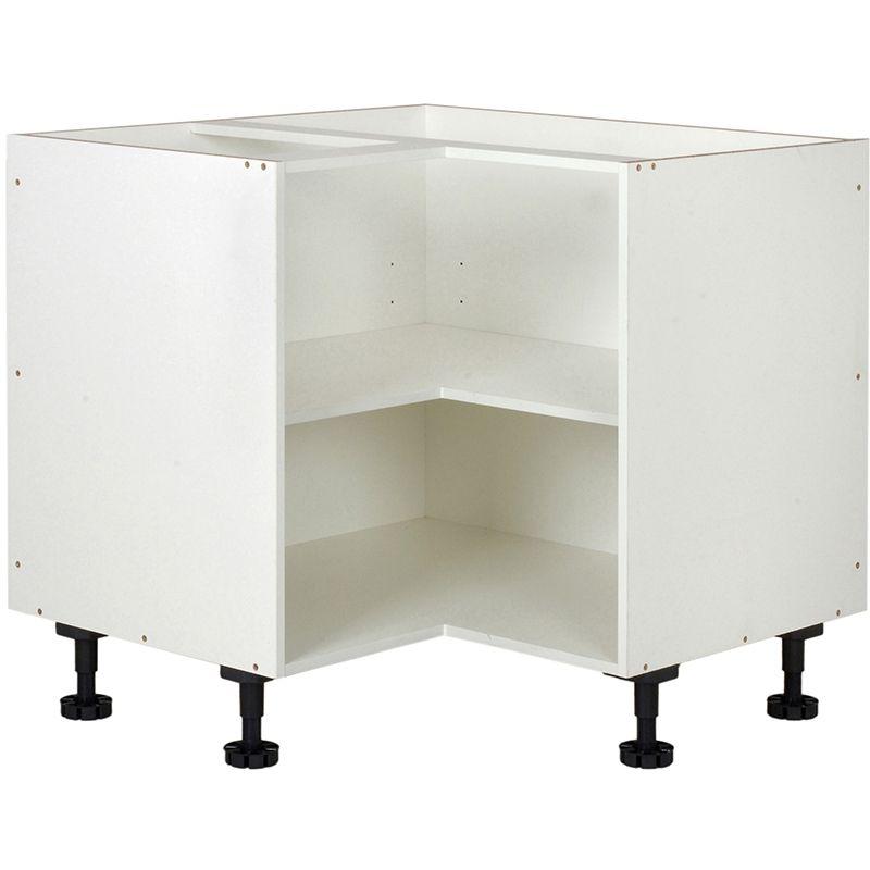 kaboodle 900mm white corner base cabinet corner base cabinet base cabinets cabinet on kaboodle kitchen storage id=61586