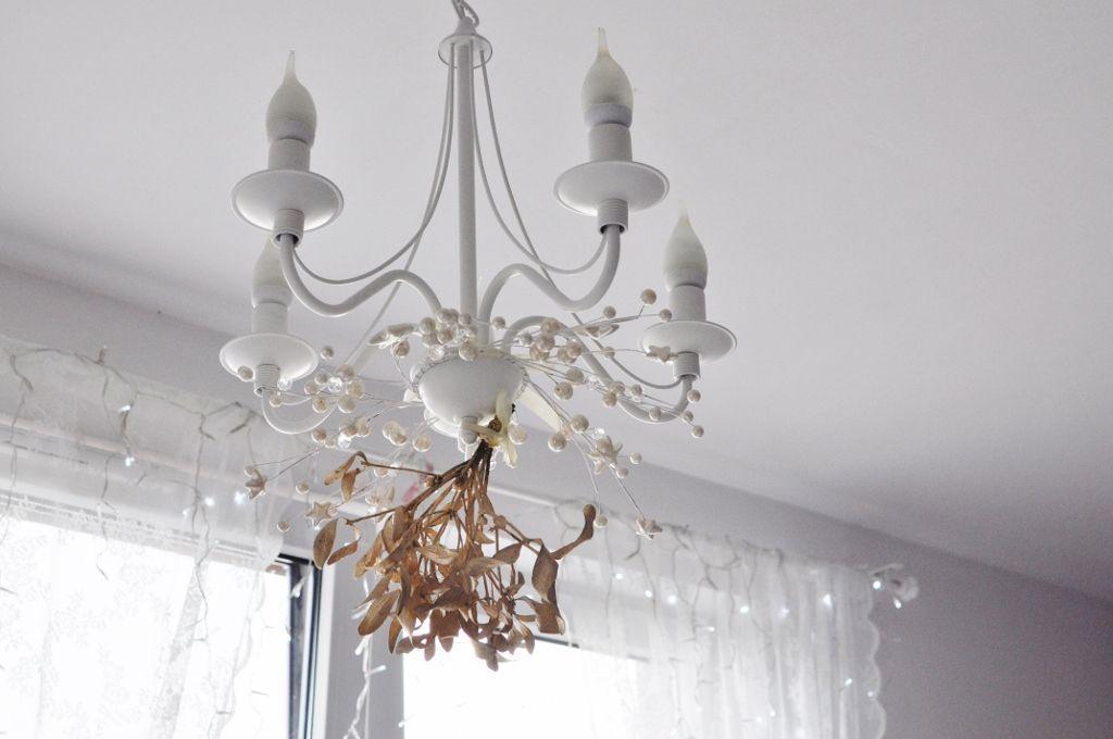 Fashionablecompl Christmas Mistletoe Gold Home White