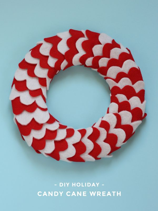 DIY Holiday - Candy Cane Wreath Tutorial // Michael Ann Made
