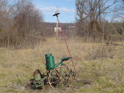 Ohn Deere Corn Planter Horse Drawn Pull Type Vintage Farm Land