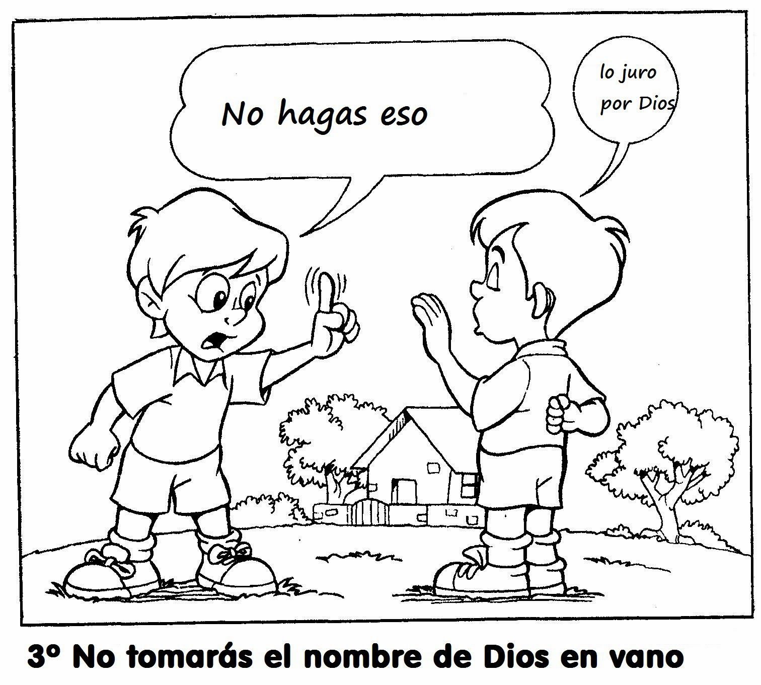 Dibujos Para Colorear De Los Diez Mandamientos Kinder Bibel Aktivitaten Kinderbibel Sonntagsschule