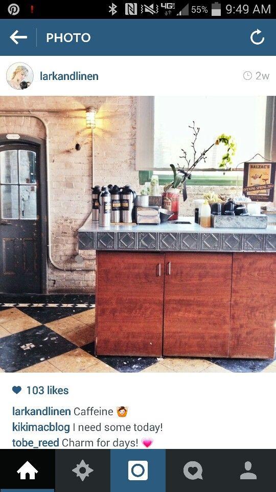 perfect counter top.....and floor...and door...