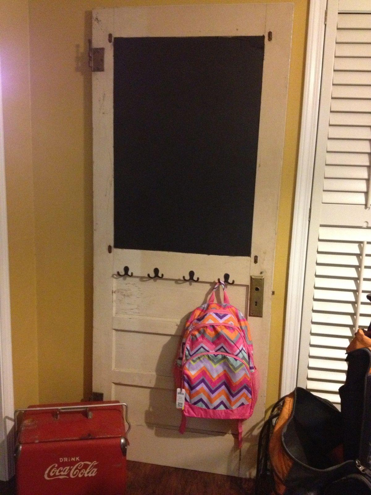 Old door coat rack / message board | For the Home ...