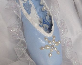 Bright pink and white glittery pointe shoe.  by ArtisticPointe