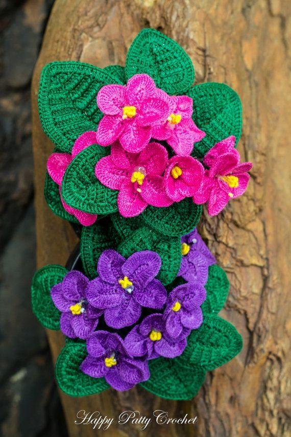Crochet Flower Pattern African Violet Pattern Crochet