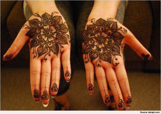 Flower Pattern Mehndi Designs : Traditional and simple round mehndi designs henna