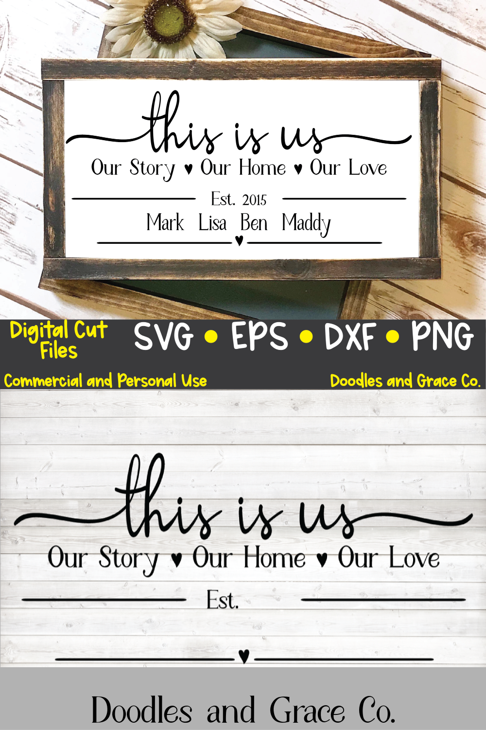 Personalized This is Us SVG | family name | This is Us digital file | svg | eps | dxf | pdf | png | cricut file | silhouette file