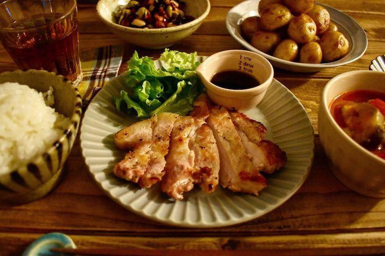 スタミナポークステーキで大満足な夜ご飯 おうちごはん 献立