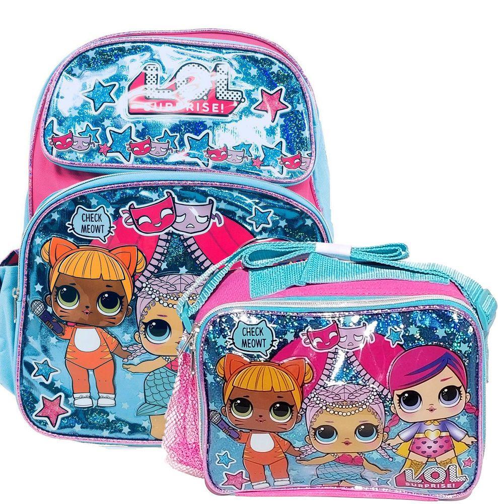 "L.O.L Surprise Large School Rolling Backpack 16/"" Girls Bag LOL W// Water Bottle"