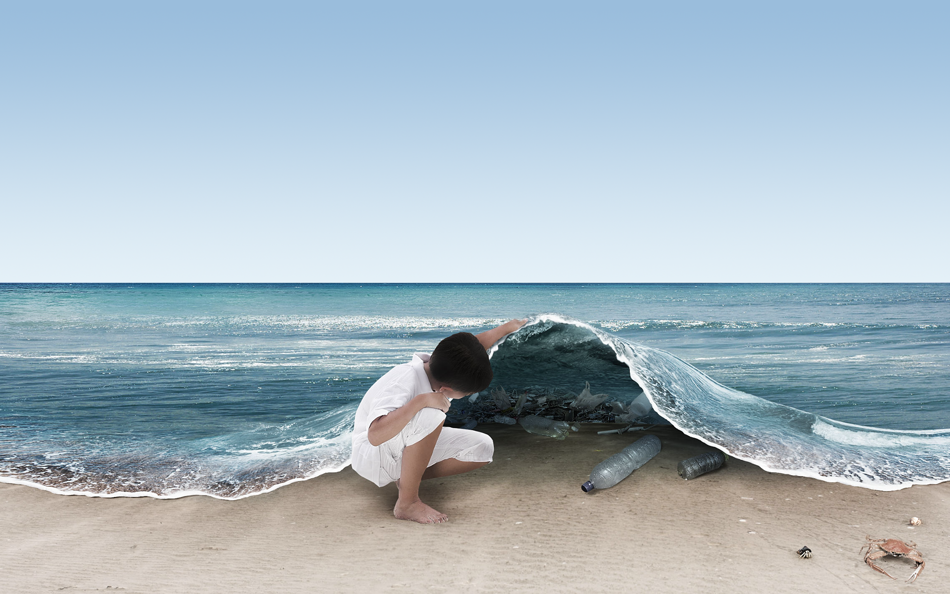 really awesome but fake ocean scene artistic and creative