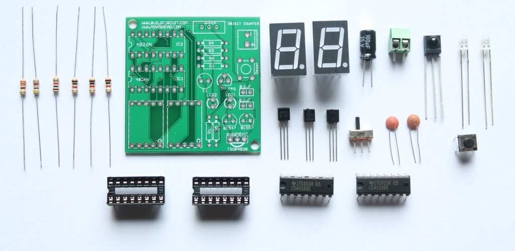pin by build circuit on basic electronics pinterest diydigital object counter diy kit for electronic beginners www buildcircuit