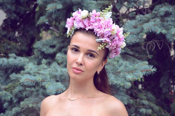 Floral Head Wreath Flower Head Wreath Flower Crown by CielDeLys #flowerheadwreaths Floral Head Wreath Flower Head Wreath Flower Crown by CielDeLys #flowerheadwreaths