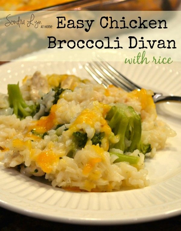 Chicken-Broccoli Divan with Rice-Sondra Lyn at Home (*need to make sure about gluten/nightshade-free soup)