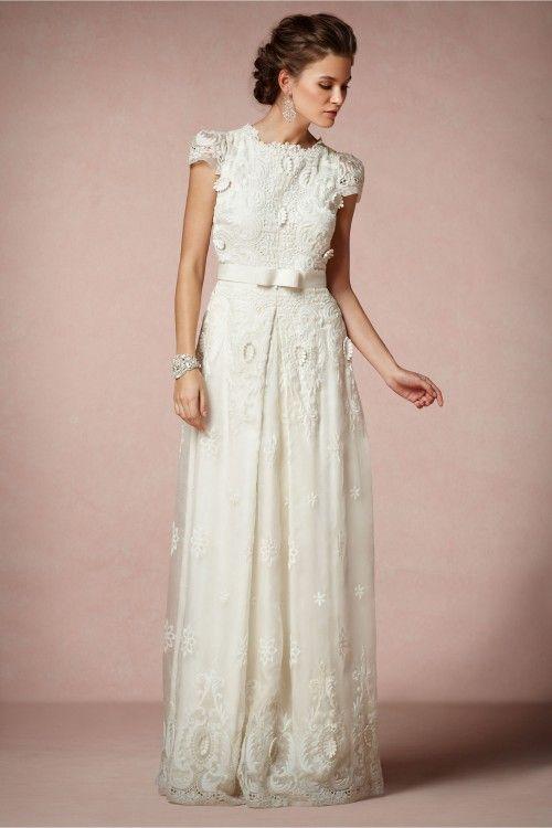 Vestido de novia 2014 en color blanco de corte recto y detalle de ...