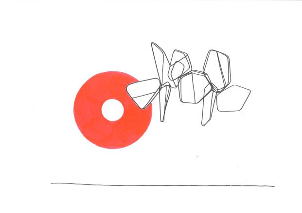 """Barber Osgerby's sketch for """"Corona"""" and the Planform series, Ascent by Barber Osgerby, Haunch of Venison"""