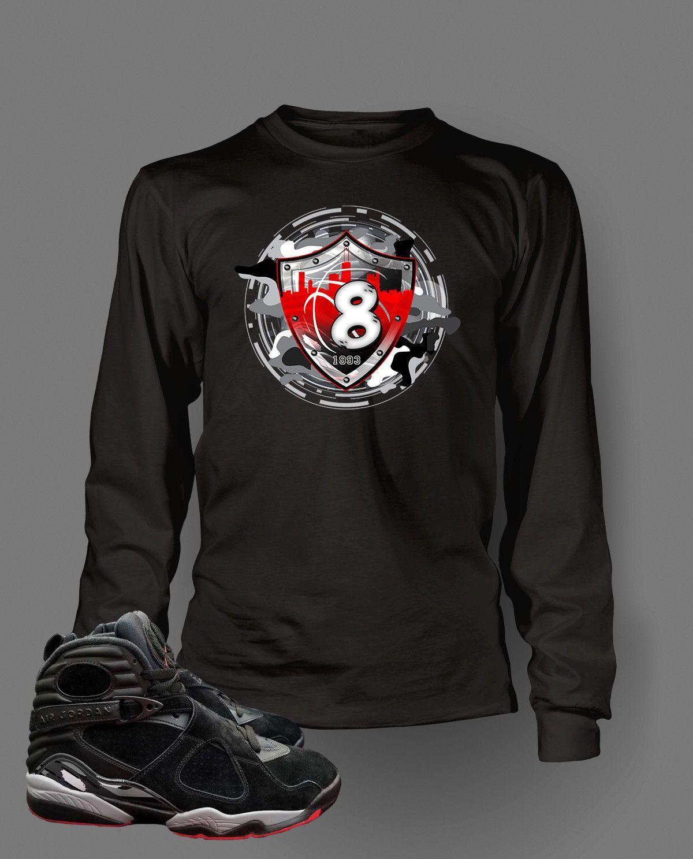 4c135bf8aaa634 Graphic T Shirt to Match Retro Air Jordan 8 Alternate Bred Shoe ...
