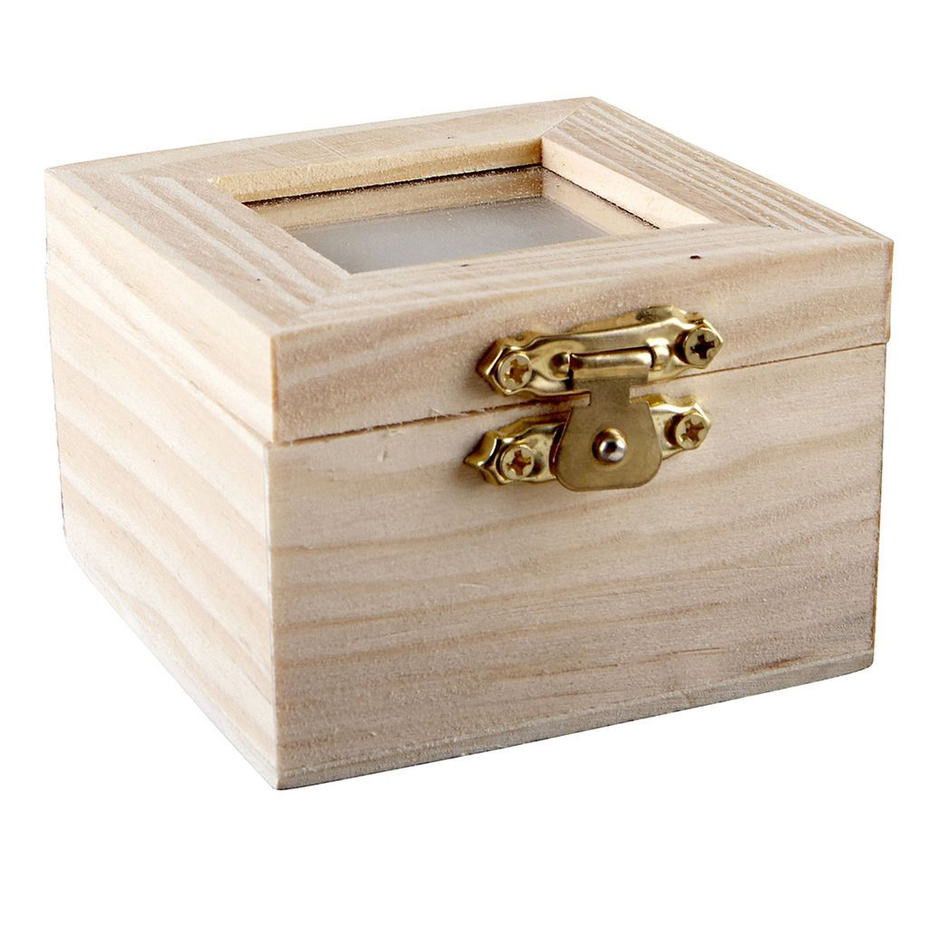 Small Decorative Boxes With Lids Artminds™ Wood Shadow Box With Lid  Stains Photographs And Artworks