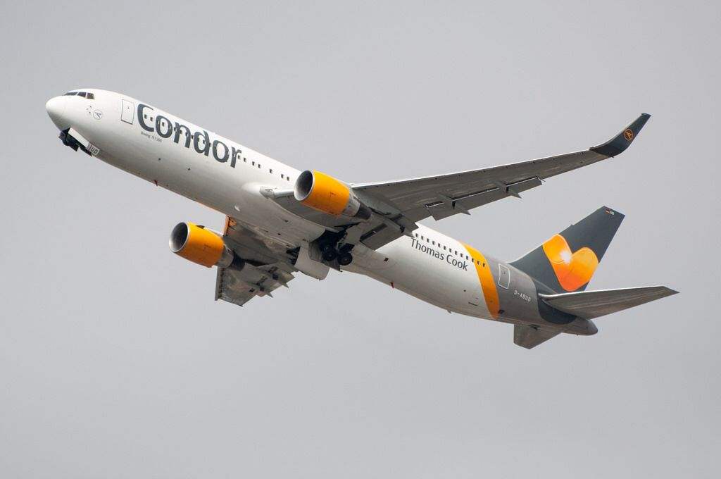 Condor 767-300ER departing SAN on their second day of service to FRA. Photo taken on May 4, 2017.