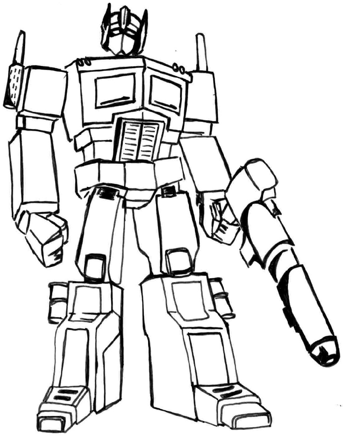 Transformer Coloring Pages For Kids 2019