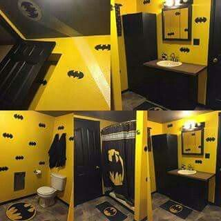 my daughter would love this - Batman Bathroom