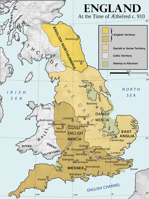 Coastline Of England Ca 910 Ce Scandinavian Territories York Yorkshire Jorvik Danelaw East Ang Saxon History Alfred The Great Anglo Saxon History
