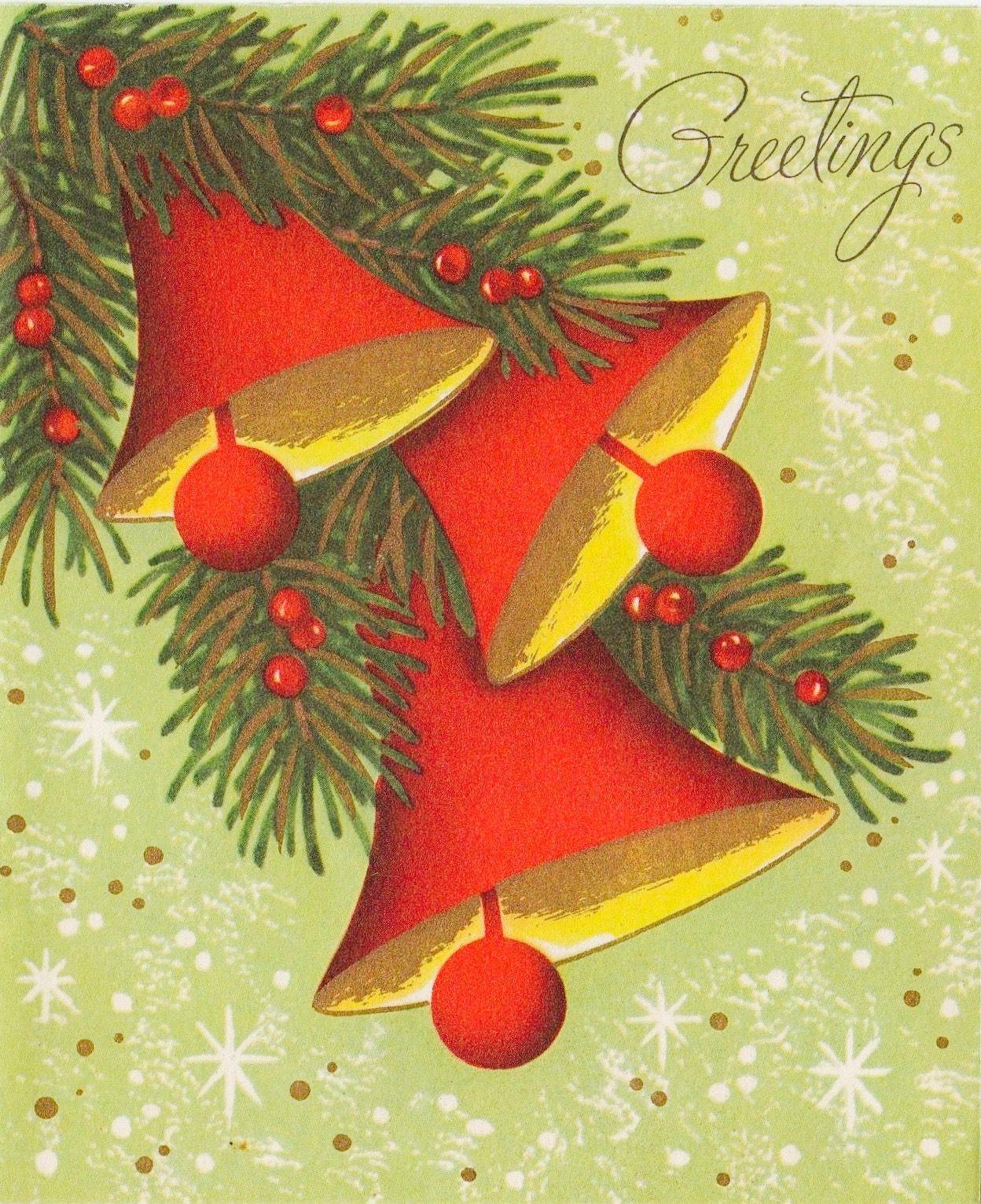 60\'s Christmas Card. Vintage Christmas Card. Retro Christmas Card ...