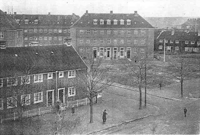 Barndomshjem: Marinus og Clara Svendsen - Barakkerne Vigerslev allé - 1919 - Kølbenhavns Bymuseum