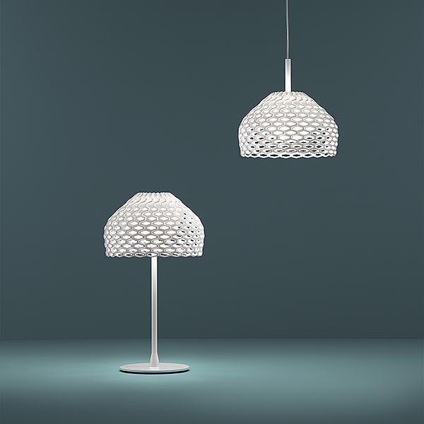 I like both the pendant and the table lamp.