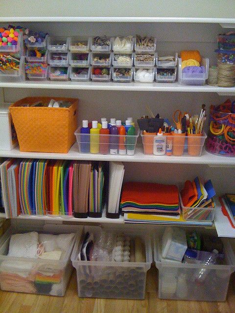 Genial Art Supply Storage! Would Love To Have Something This Organized For The Kids