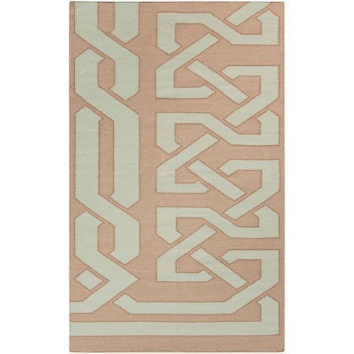 Alameda Blue Haze and Dark Taupe Square: 3 Ft. 3 In. x 5 Ft. 3 In. Rug - (In Square)