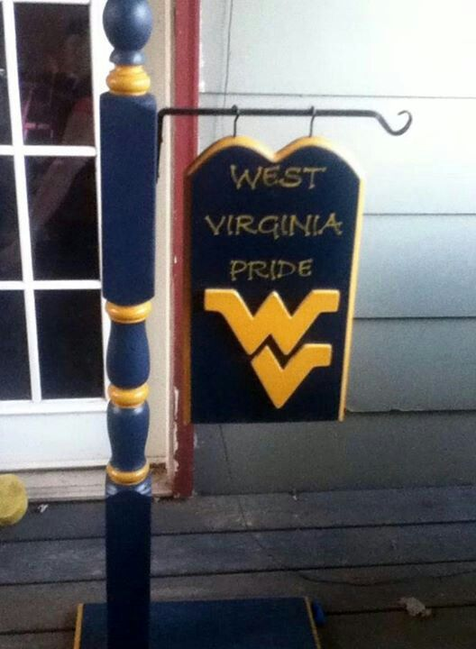 Prime Wv Sign I Bleed Blue And Gold Virginia Homes Creativecarmelina Interior Chair Design Creativecarmelinacom