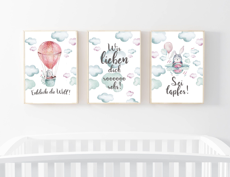 Kinderzimmer Kunstdrucke 3er Set Bilder Wandbilder Mit