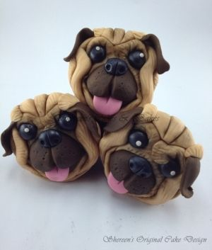 puppy face cupcakes From Shereens cakes's by elma